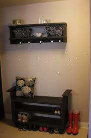 entryway bench with hooks and storage diy entryway bench diy entryway bench and shoe rack my creations pinterest