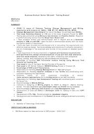 Example Of Business Analyst Resume Qa Analyst Resume Sample Resume For Your Job Application