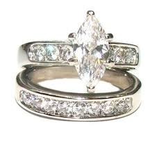 his and hers engagement rings his hers 3 marquise cut cz wedding engagement ring set