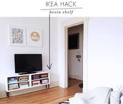 ikea hack besta shelf to tv stand little lessy