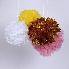 gold mylar tissue paper 20pcs 6 inch 15cm metallic pom poms mylar tissue paper foil flower