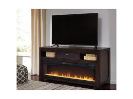 ashley signature design rogness large tv stand w fireplace insert