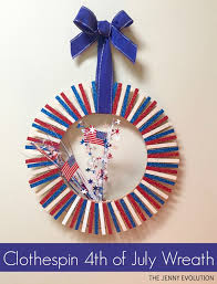 4th of july wreaths clothespin 4th of july wreath the evolution
