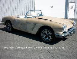 1961 corvette project for sale corvette for sale 1959 1041c