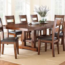 dining room pieces steve silver zappa 9 piece dining room set in medium cherry beyond