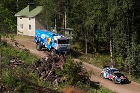 subaru rally jump kamaz truck versus vw wrc car how the race was filmed