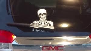 Skeleton Bones For Halloween by Skully The Waving Bones Skeleton Wiper Blade Wipertag For