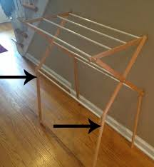 Wooden Clothes Dryer Two It Yourself Diy Laundry Drying Rack Wall Mount From Floor