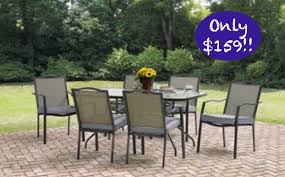 Patio Table 6 Chairs Hot Walmart Rollback 8 12 17 Patio Dining Table U0026 6 Chair Set