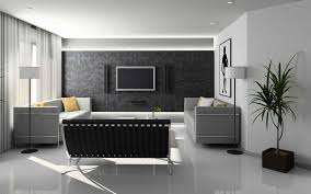 Black Sofa Living Room Interior Fancy Modern Black And White Living Room Furniture With