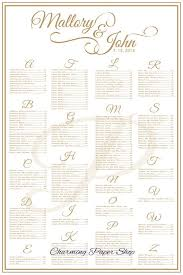 Wedding Program Board Wedding Seating Chart Table Seating Assignments Reception