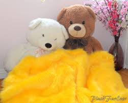 Faux Fur Blankets And Throws Shaggy Faux Fur Throw Yellow Luxurious Fur Blanket Comforters