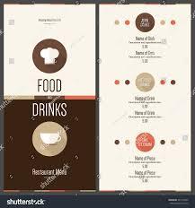 restaurant menu design vector menu brochure stock vector 241970335