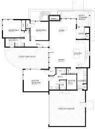 House Plans With Courtyard Modern Style House Plan 3 Beds 2 00 Baths 1731 Sq Ft Plan 895 60