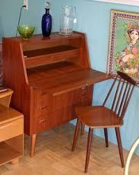 Drop Front Secretary Desk by Antique Victorian Tiger Oak Mirrored Drop Front Secretary Writing