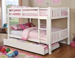 White Bunk Bed With Trundle Felix Wood Bunk Bed With Optional Bed Trundle