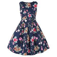 childrens vintage style mini colette navy floral party dress