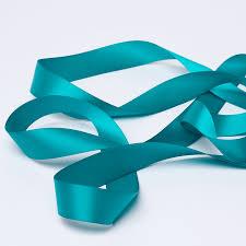 teal satin ribbon peacock blue satin ribbon