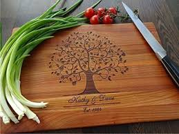 engraved cutting boards family tree handmade cutting board wedding gift