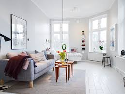 Small One Room Apartments Featuring A Scandinavian Décor - Interior design for a small apartment