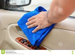 Cloth Car Seat Cleaner Hand Cleaning Interior Car Door Panel With Microfiber Cloth Stock