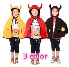 Devil Halloween Costumes Kids 2017 Horns Devil Cape Cloak Boy 2014 Arrival Children U0027s