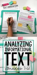 analyzing informational text using manila folders u0026 annotation