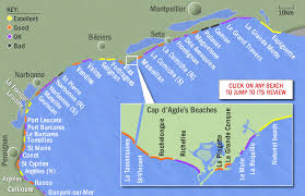 map of perpignan region beaches languedoc roussillon south