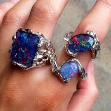 rings natural stones images Wholesale lot of 50pcs top fashion mix color big natural stone jpg