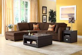 Black Microfiber Sectional Sofa Living Room Amazing Brown Sectional Living Room Ideas With Black