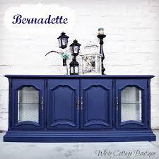 meet bernadette navy blue painted hutch hometalk