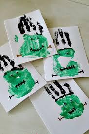 Preschool Halloween Craft Ideas - hand print spider halloween craft