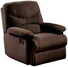 Swivel Recliner Chairs For Living Room Amazon Com Acme 00636 Arcadia Glider Recliner Beige Microfiber