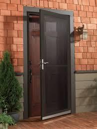 Main Door Simple Design Simple Common Design For Storm Door Using Dark Shaded Screen With
