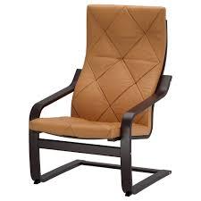 Cheap Leather Armchairs Uk Poäng Armchair Black Brown Seglora Natural Ikea