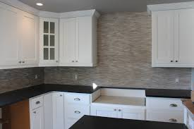 limestone mosaic kitchen backsplash in fort collins