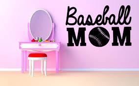 wall decals stickers home decor home furniture diy wall decor art vinyl sticker mural decal baseball mom game ball bat set sa489