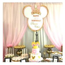 minnie mouse royal pink gold crown tiara bow