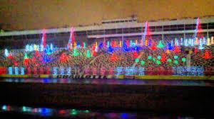 charlotte motor speedway christmas lights 2017 charlotte motor speedway christmas lights youtube
