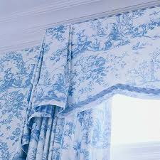 Blue Toile Curtains Alluring Blue Toile Curtains And Decorating Ideas Toile Fabric