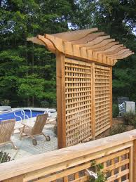 Backyard Screening Ideas Pergola Design Magnificent Privacy Wall On Deck Ideas Cool
