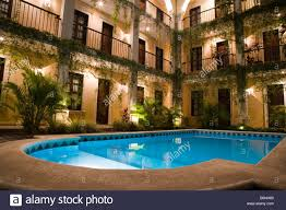 mission de frey diego hotel merida yucatan mexico stock photo