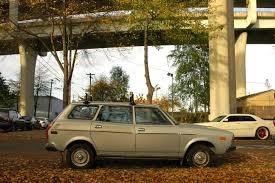 4x4 station wagon old parked cars 1978 subaru station wagon