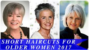 short haircuts for older women 2017 youtube