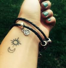 small sun and moon ideas wrist