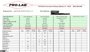 termite inspection report sample what to know about mold swabs and air quality testing mirowski mirowski inspections pro labs sample lab report
