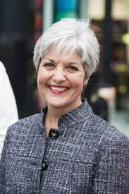 good haircut for older women with square face best short gray hairstyles with bangs for natural straight thin