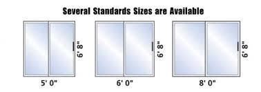 Standard Shower Door Sizes Sliding Patio Door Sizes
