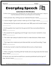 ideas of context clues worksheets pdf with reference