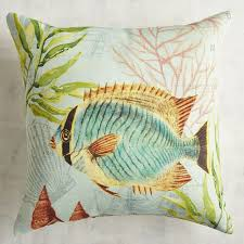 Pier One Pillows And Cushions Printed Fish Pillow Pier 1 Imports